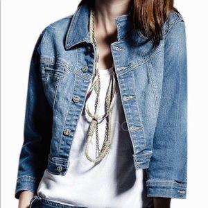 🔵American Rag Cropped Blue Denim Jacket